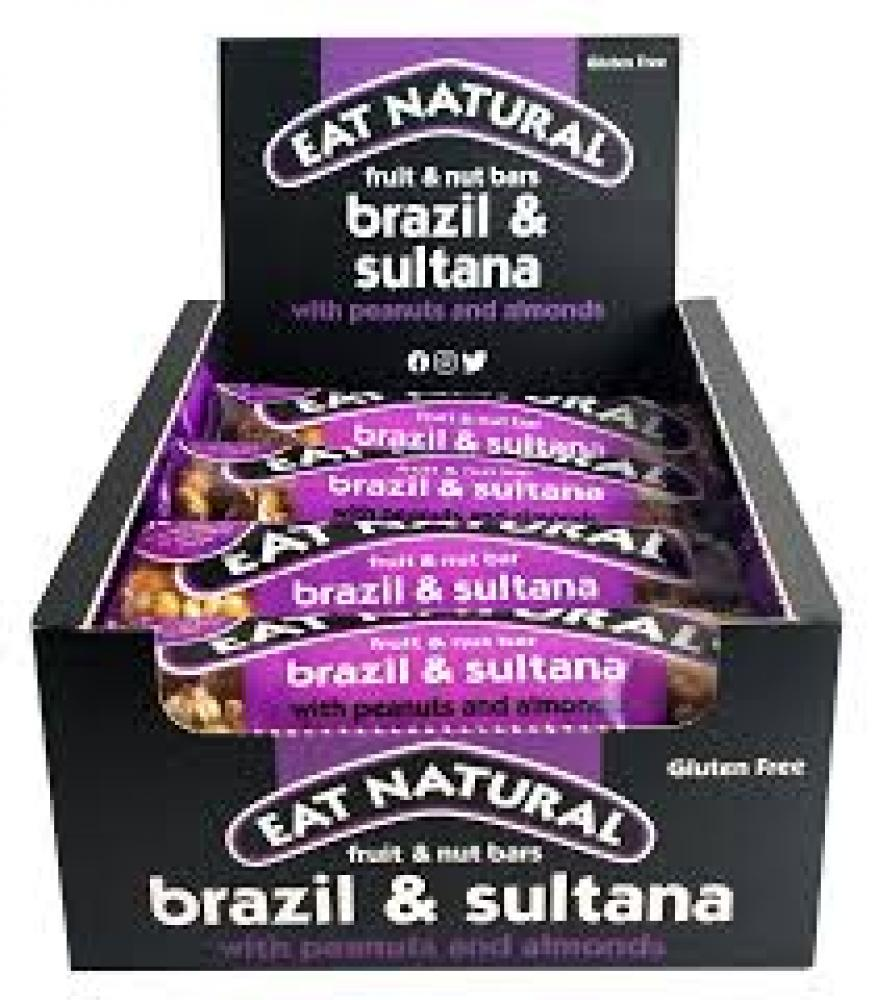 CASE PRICE  Eat Natural Brazil and Sultana Fruit and Nut Bars 12 x 50g