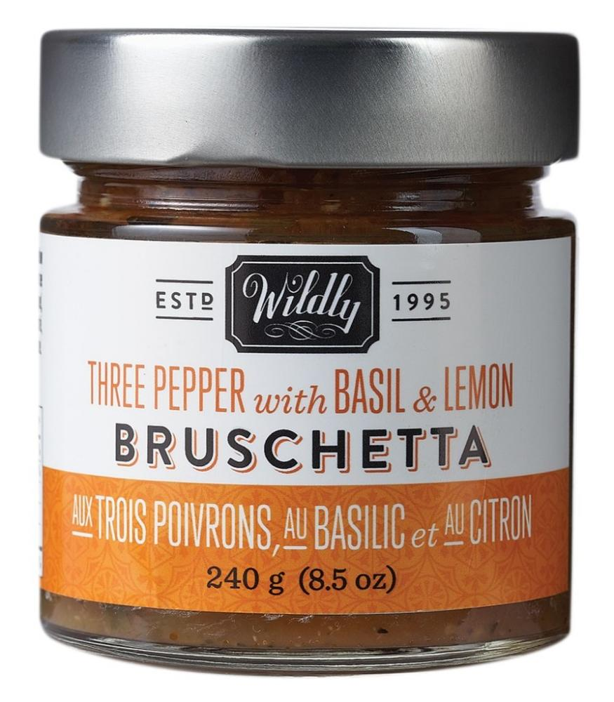 Wildly Delicious Three Pepper with Basil and Lemon Bruschetta 240g