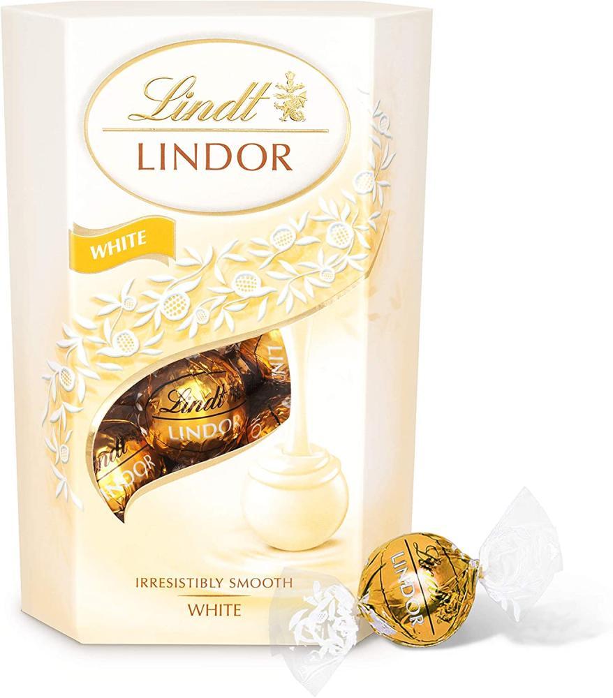 Lindt Lindor White Chocolate Truffles Box 200g