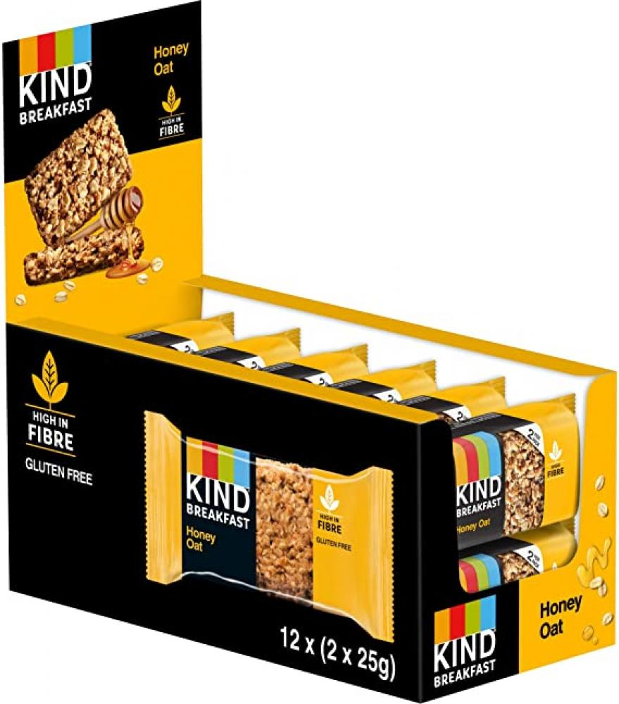 CASE PRICE  Kind Breakfast Honey and Oat Bar 12 x 50g