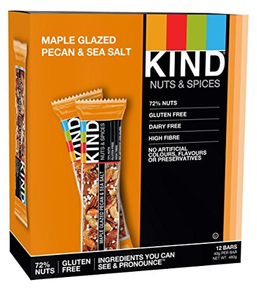 Kind Maple Glazed Pecan and Sea Salt Bar 40g
