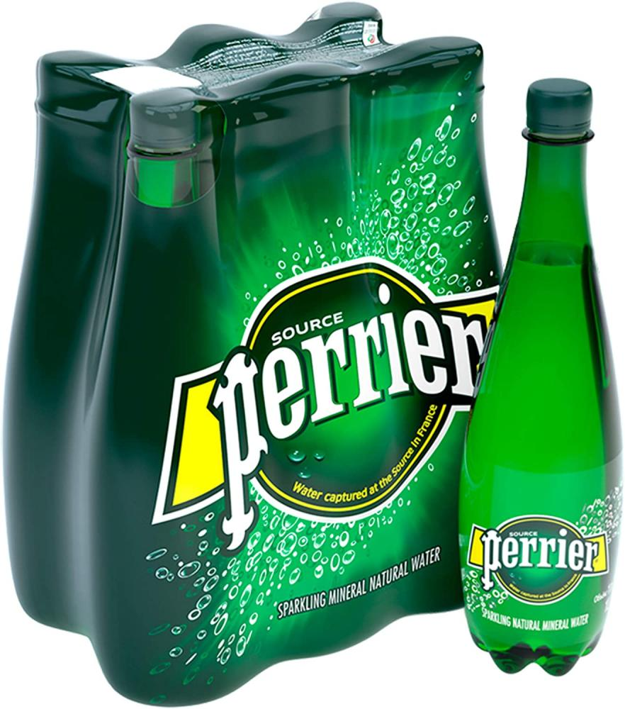 Perrier Sparkling Natural Mineral Water 1 L