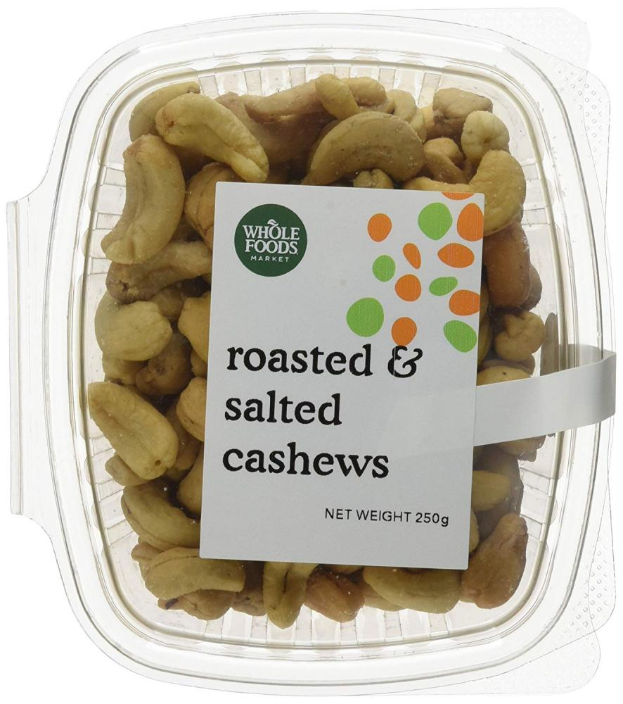Whole Foods Market Roasted and Salted Cashews 250g