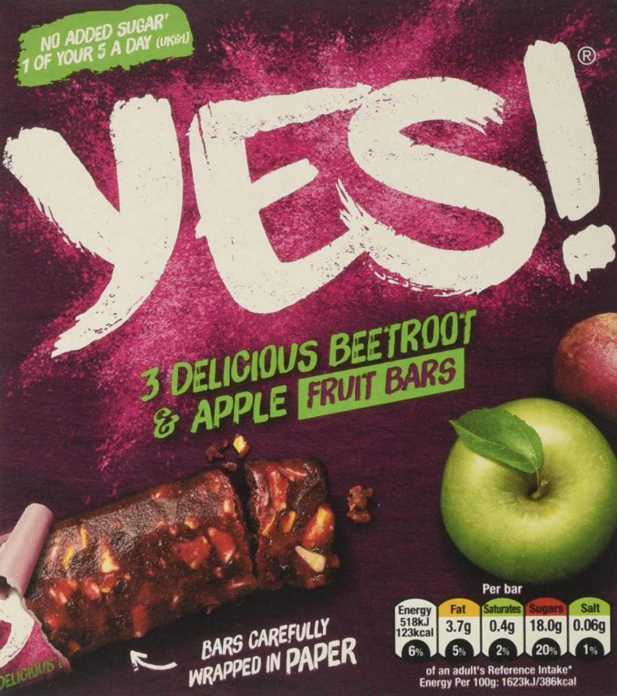 Yes Beetroot and Apple Snack Bar Multipack 3x32g