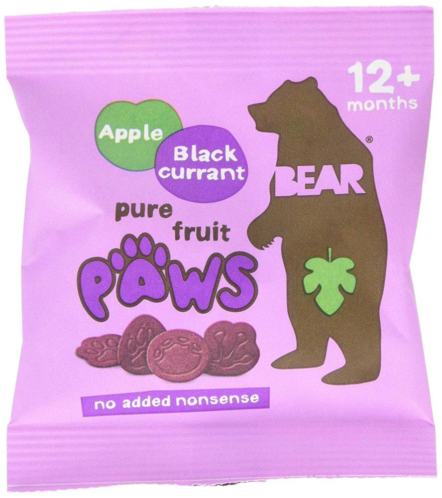 Bear Jungle Paws Apple and Blackcurrant Pure Fruit Shapes 20g