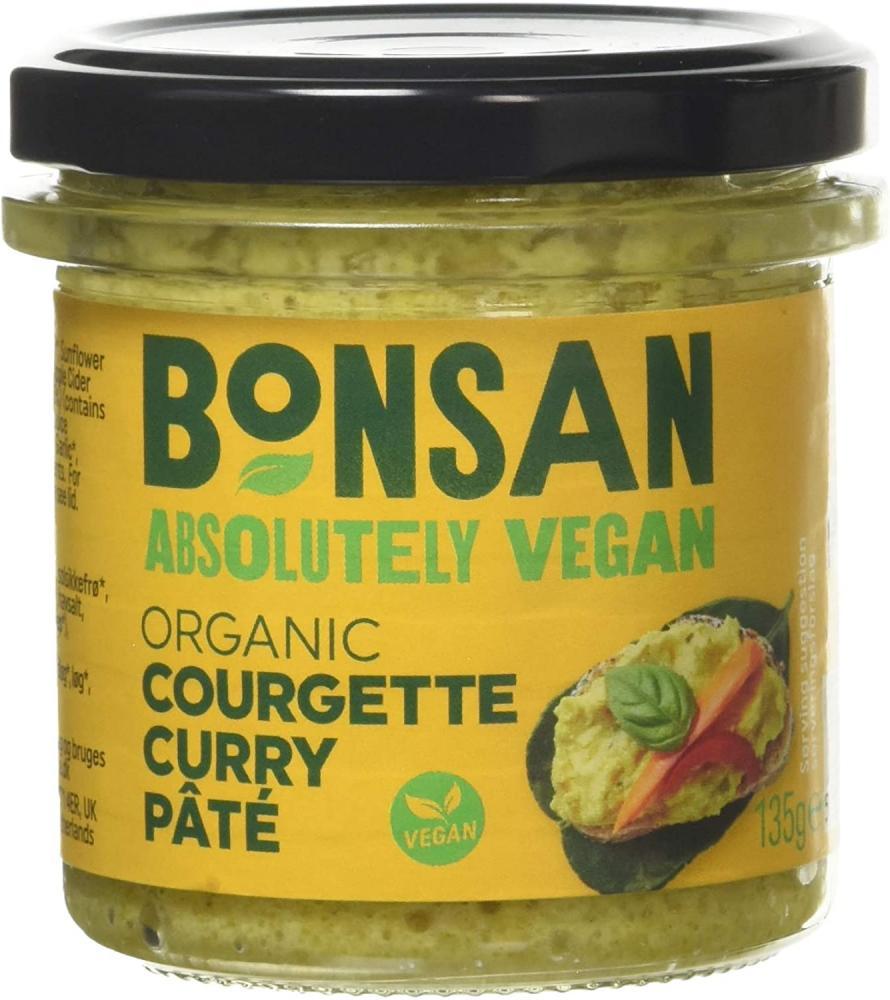 Bonsan Organic Vegan Courgette Curry Pate 135g