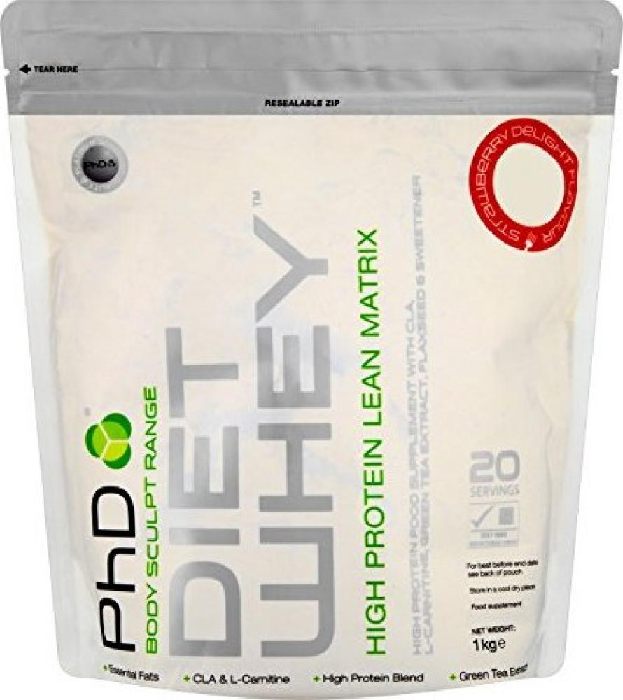 PhD Nutrition Diet Whey Protein Powder Strawberry Delight 1kg