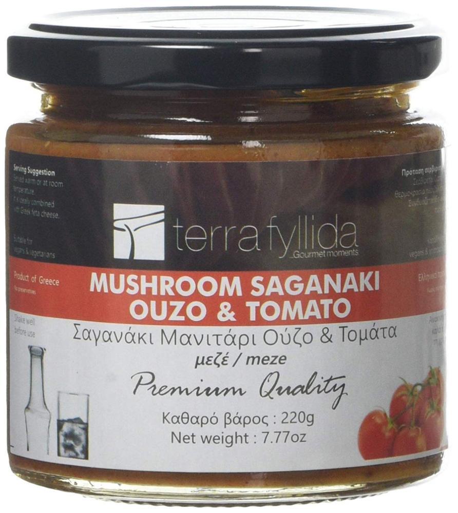Terra Fyllida Mushroom Saganaki with Ouzo and Tomato 220 g