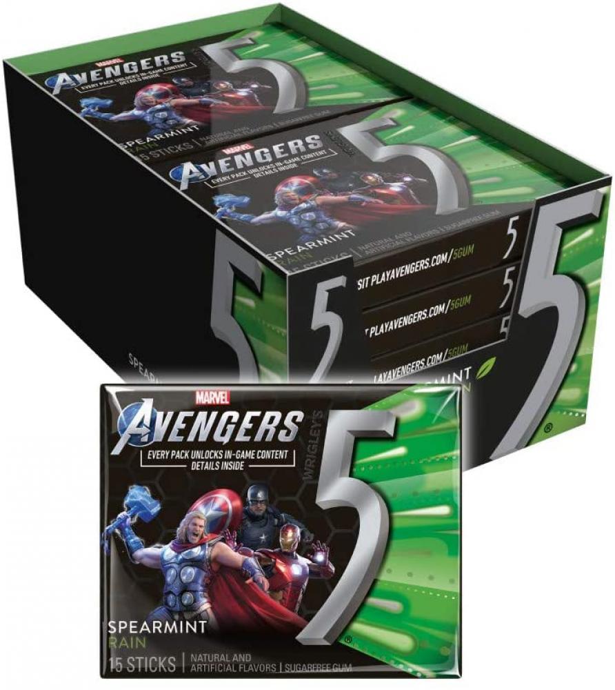 Wrigleys Chewing Gum Avengers Spearmint 15 sticks