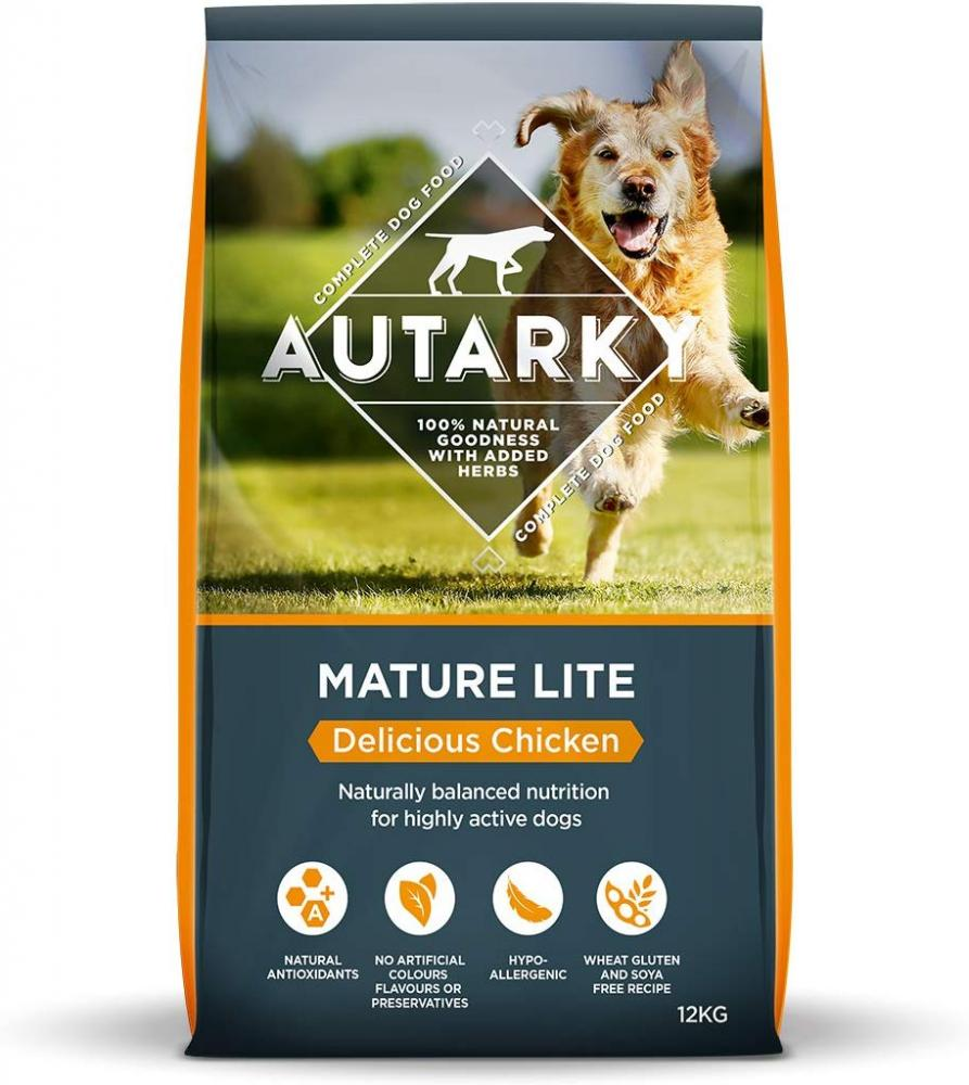 WEEKLY DEAL  Autarky Delicious Chicken Dry Dog Food for Senior Dogs 12kg