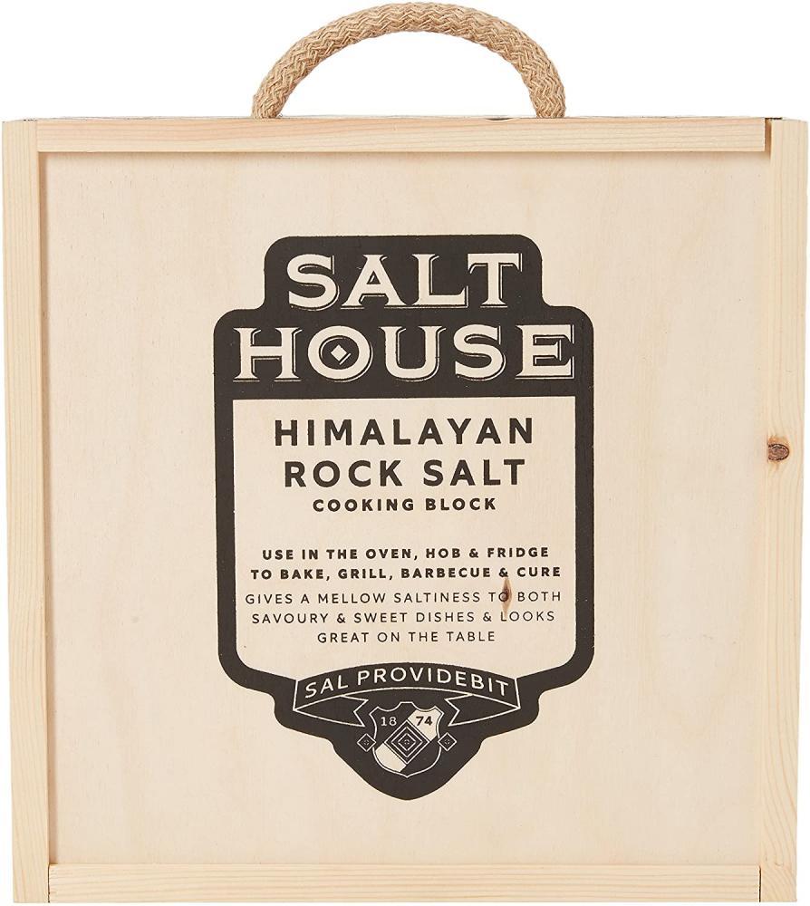 Salthouse Square Himalayan Salt Block with Presentation Box 5.6 kg Damaged Box