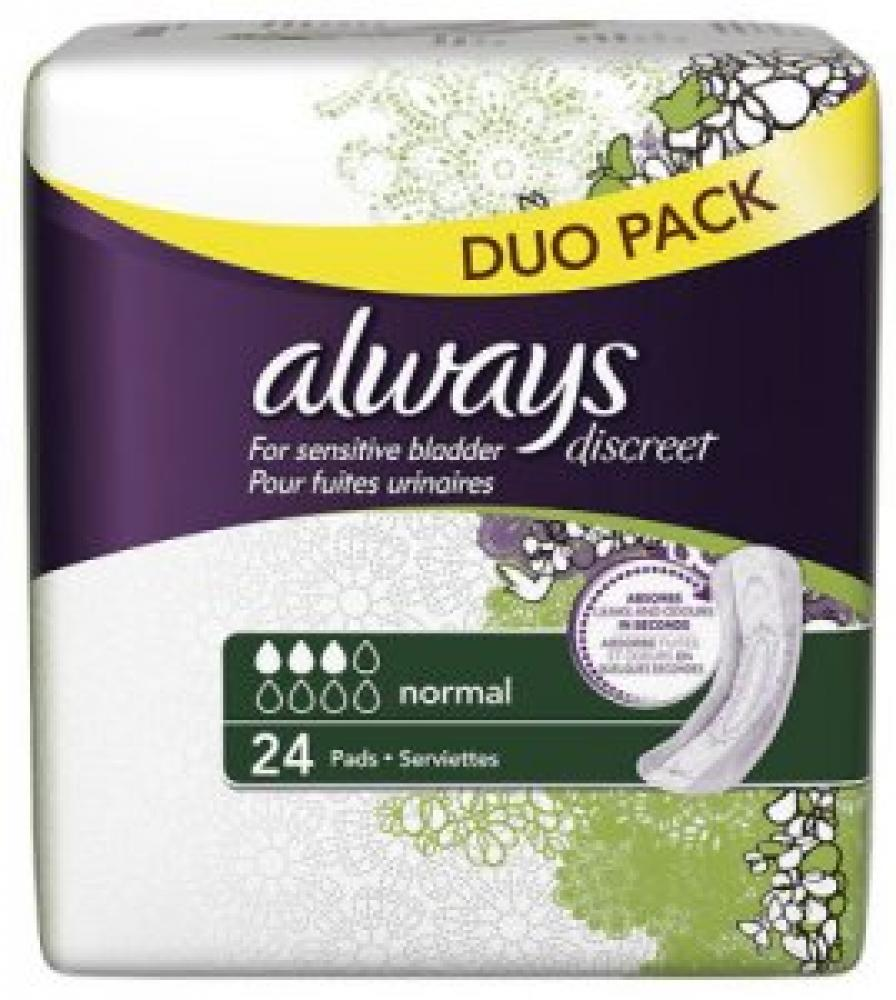 Always Discreet Normal 24 Pads