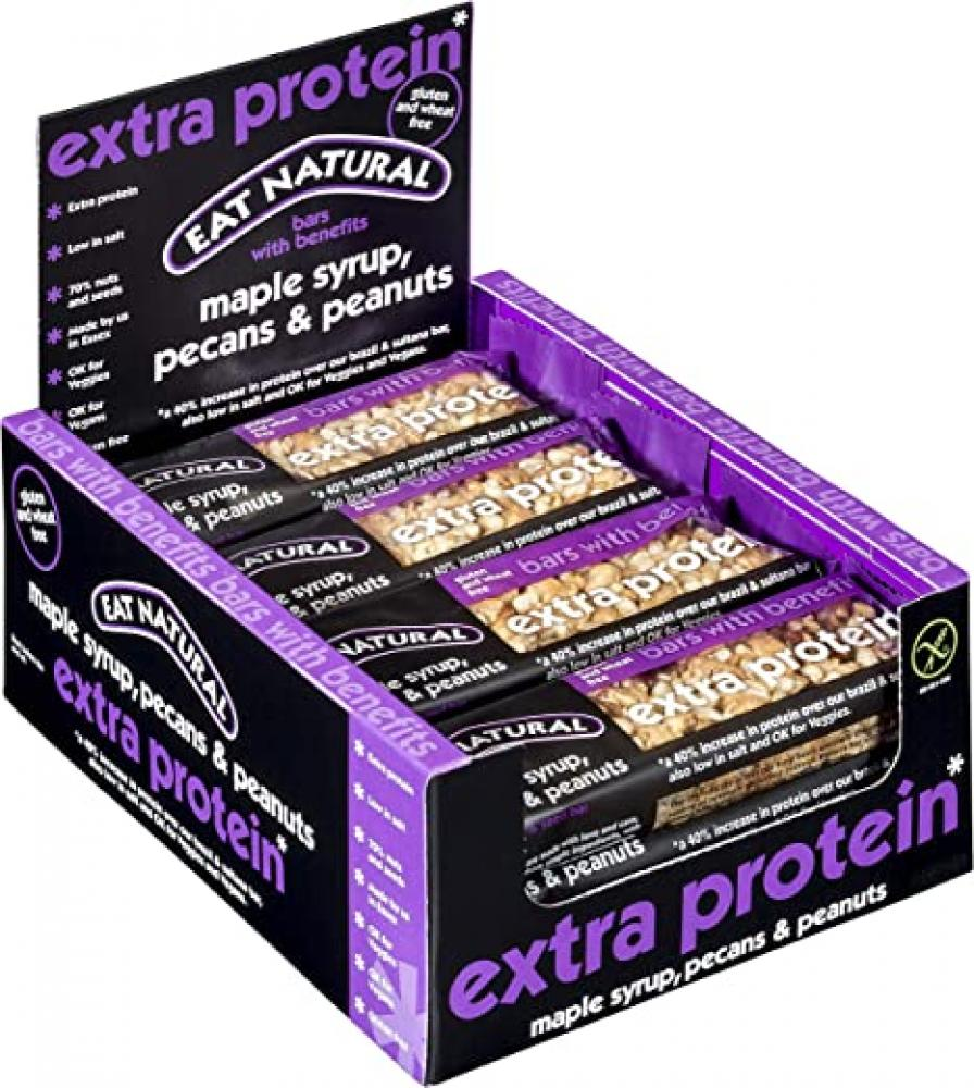 CASE PRICE  Eat Natural Extra Protein Maple Syrup Pecans and Peanuts 12 x 45g