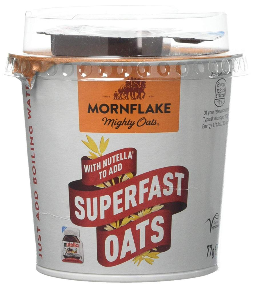Mornflake Mighty Oats Superfast Pot with Added Nutella 77 g
