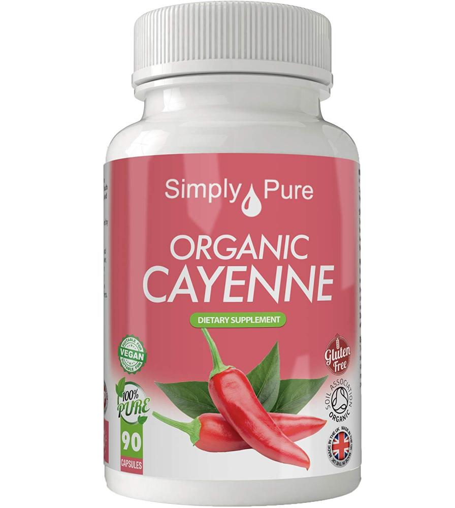 Simply Pure Organic Cayenne 90 Capsules