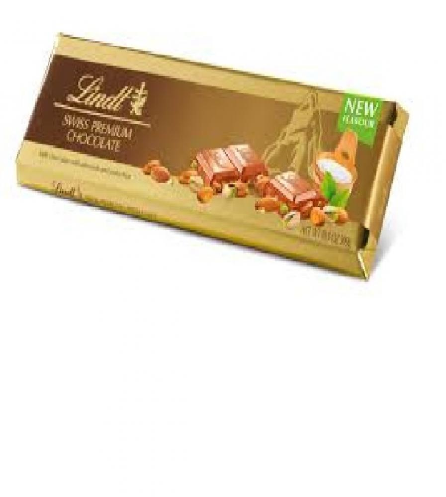 Lindt Swiss Premium Chocolate With Almonds and Pistachios 300g