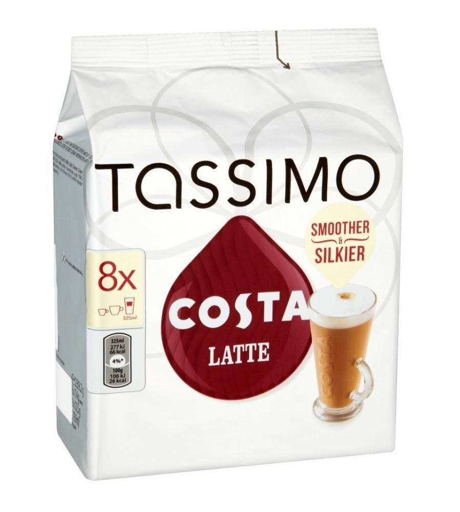 Tassimo Costa Latte Coffee 16 Discs 8 Servings 223.2 G