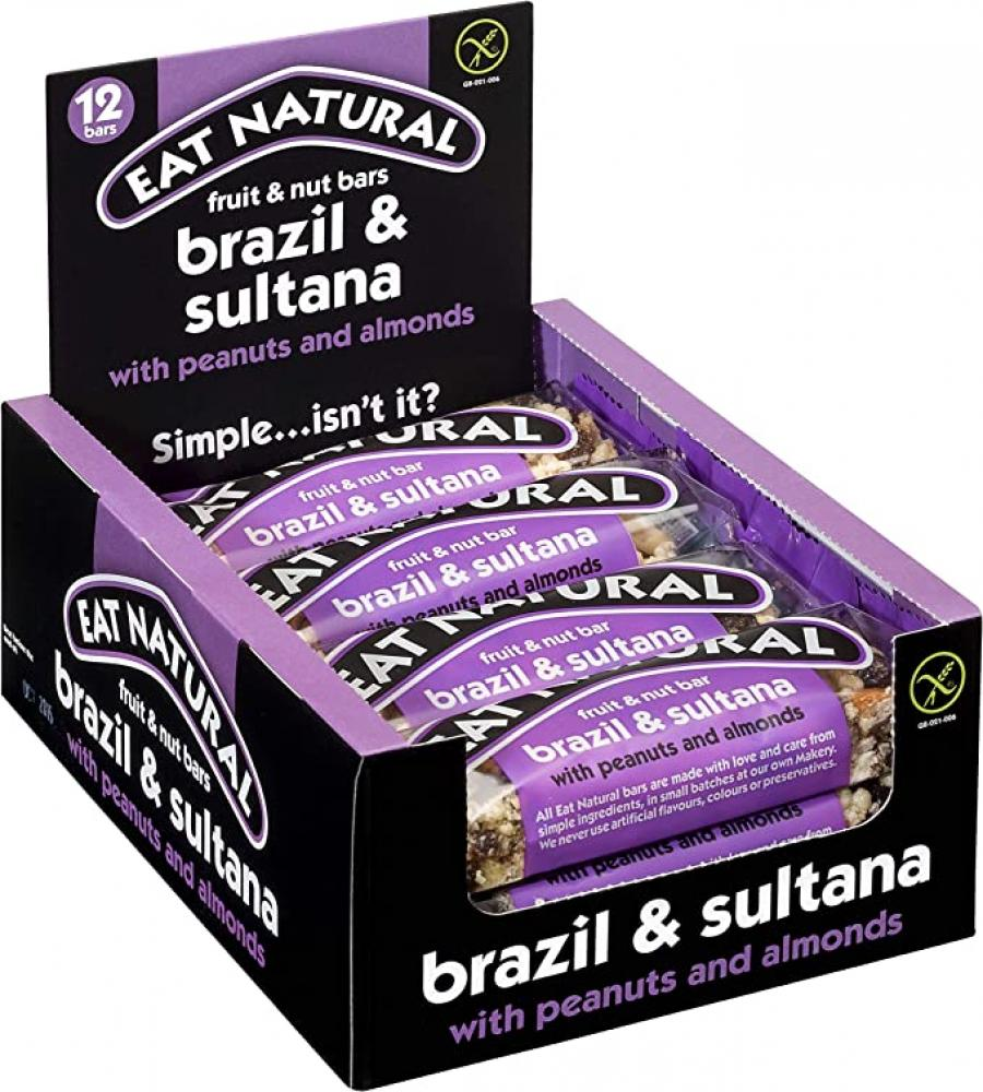 CASE PRICE  Eat Natural Almond and Sultana With Peanuts and Apricots 12 x 50g