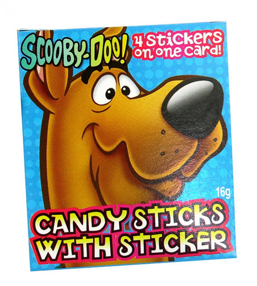 Scooby Doo Candy Sticks With 4 Stickers Inside LUCKY DIP 16 g