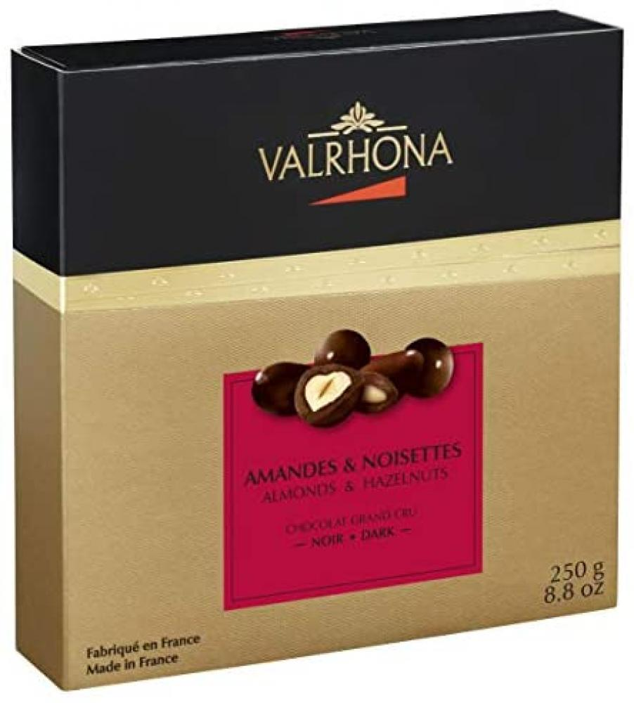 Valrhona Almonds and Hazelnuts Dark and Milk Chocolates 250g
