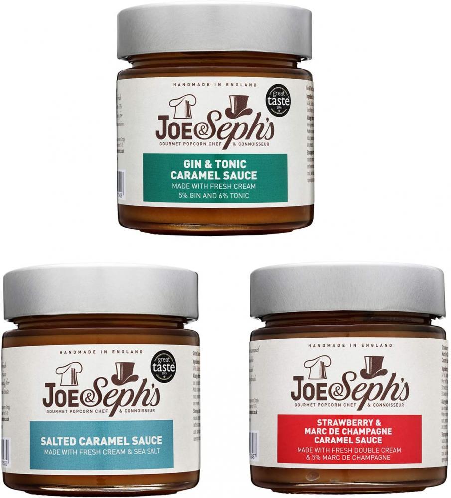 Joe and Sephs Caramel Dessert Sauce Gourmet Selection Set 3x230g