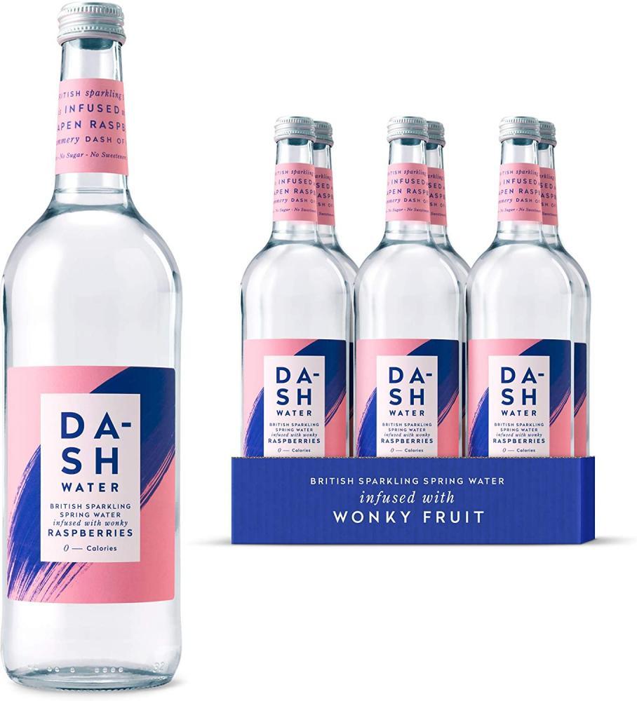 Dash Water Raspberry Flavoured Sparkling Spring Water 750ml