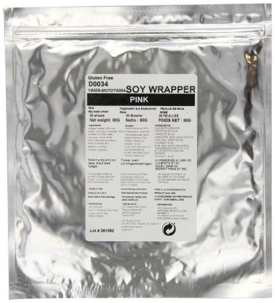 Yamamotoyama Pink Soy Wrappers 80 g