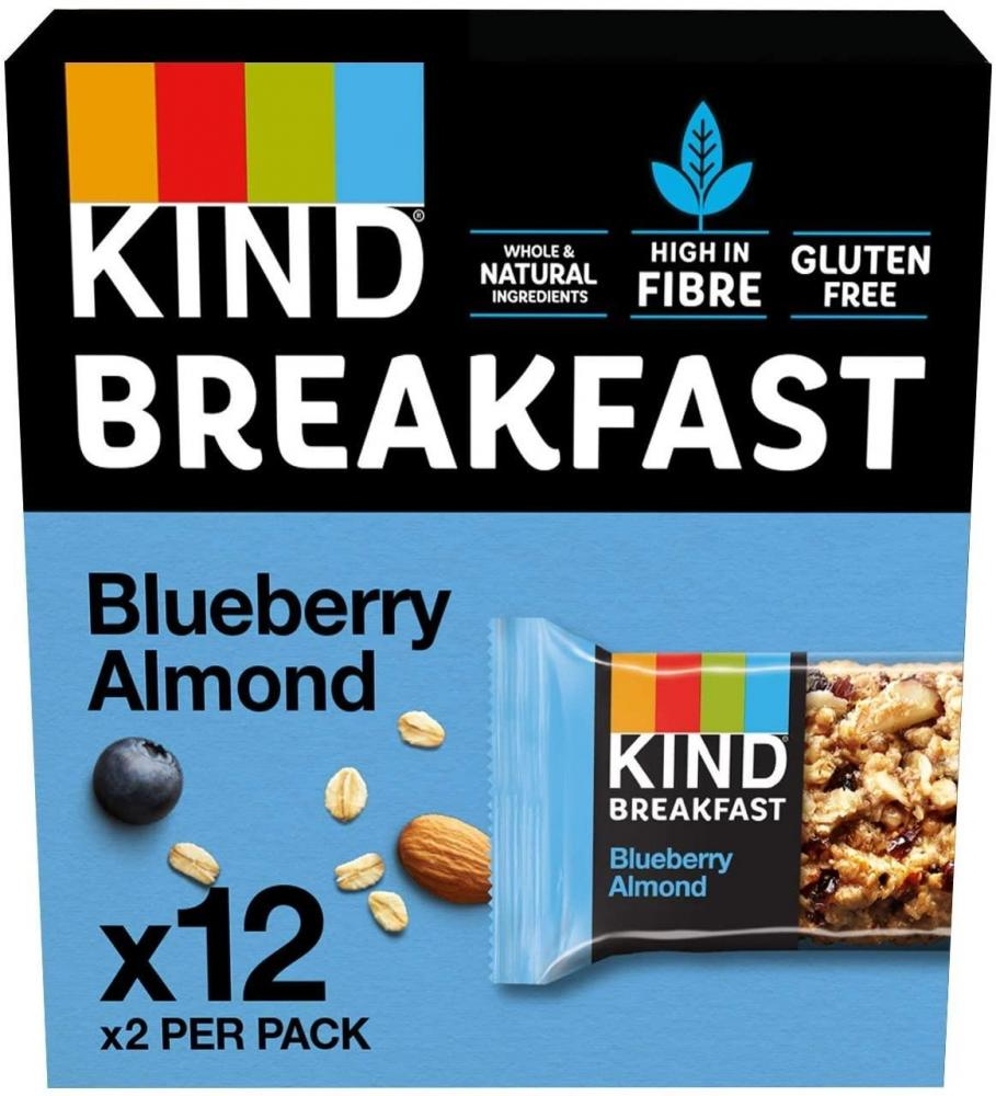CASE PRICE  Kind Breakfast Blueberry and Almond Bar 12 x 50g