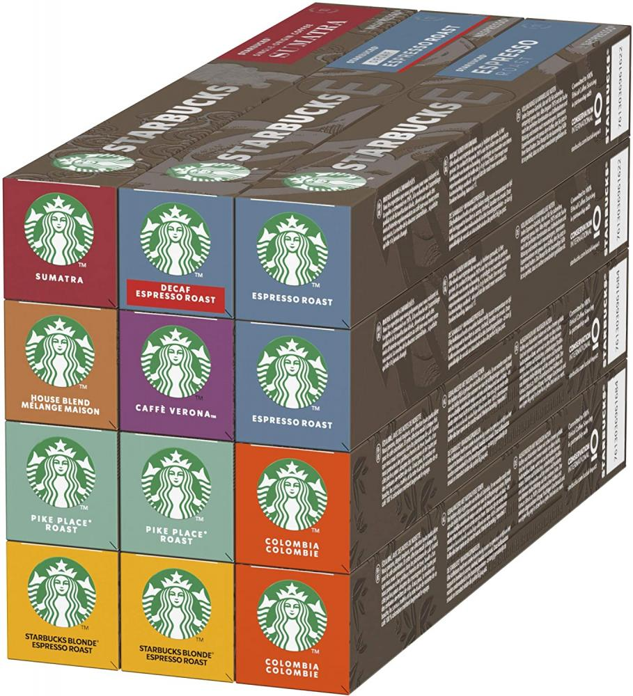 Starbucks Nespresso 8 Flavours Variety Pack 120 Capsules