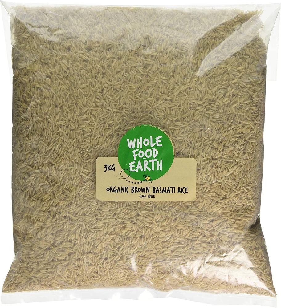 Wholefood Earth Organic Brown Basmati Rice 3kg
