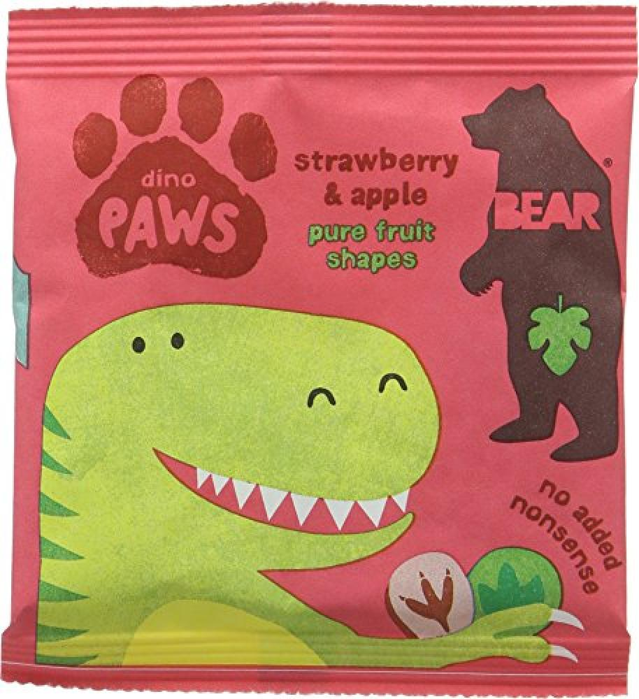 Bear Paws Strawberry and Apple Fruit Shapes 20 g