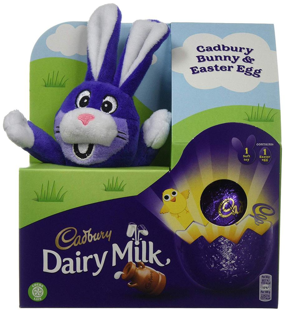 Cadbury Dairy Milk Chocolate Easter Egg with Plush Toy 72 g