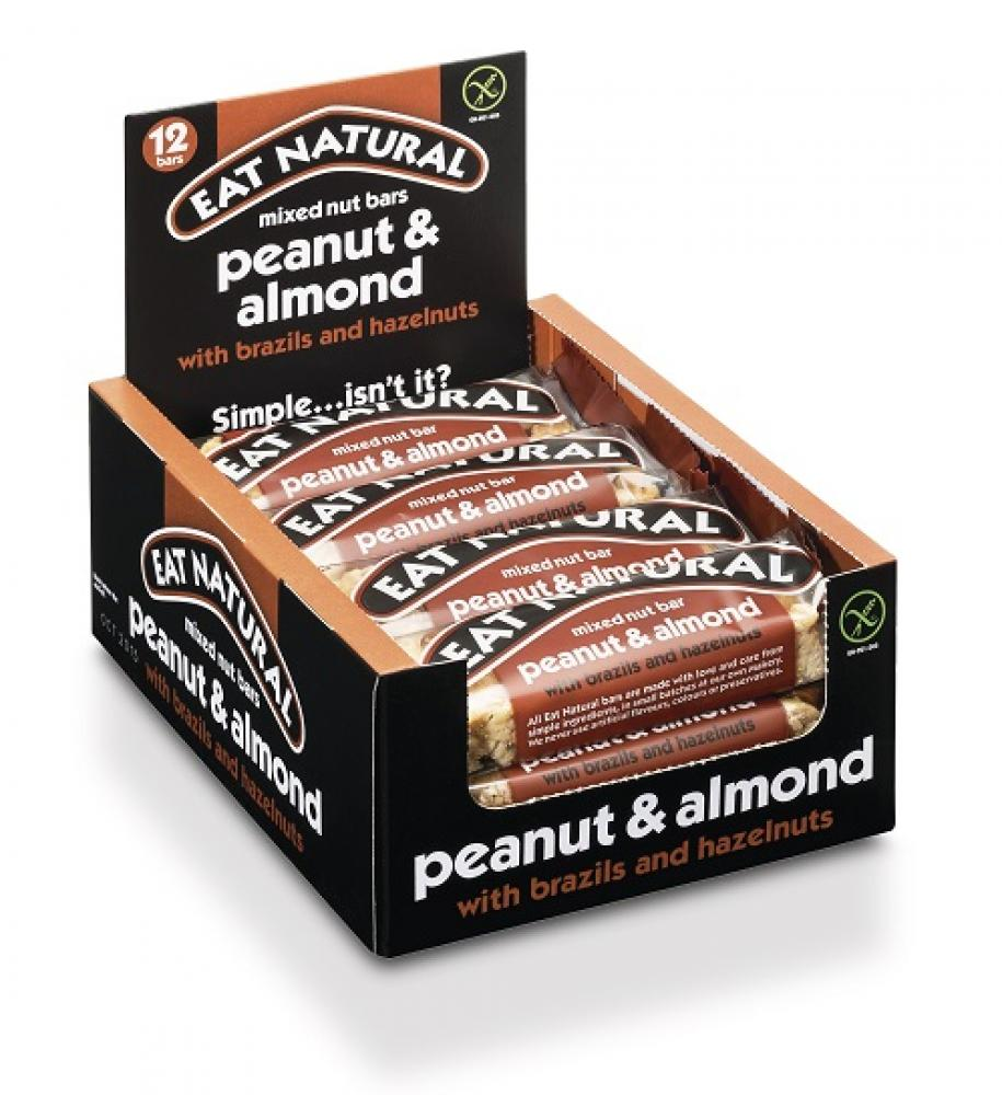 CASE PRICE  Eat Natural Peanut and Almond Mixed Nut Bars 12 x 45g