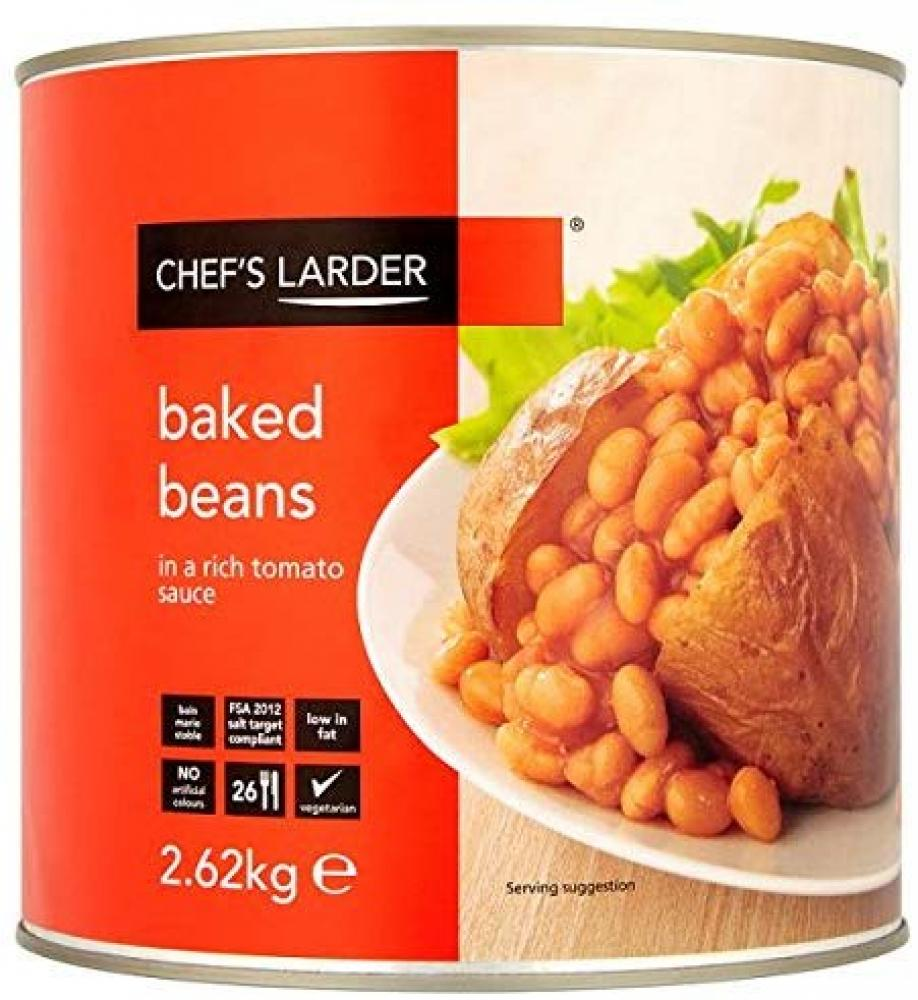 Chefs Larder Baked Beans in a Rich Tomato Sauce 2.62 kg
