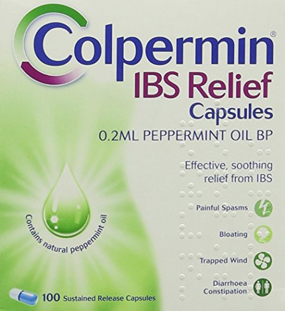 Colpermin IBS BP Relief Peppermint Oil Capsules - Pack of 100