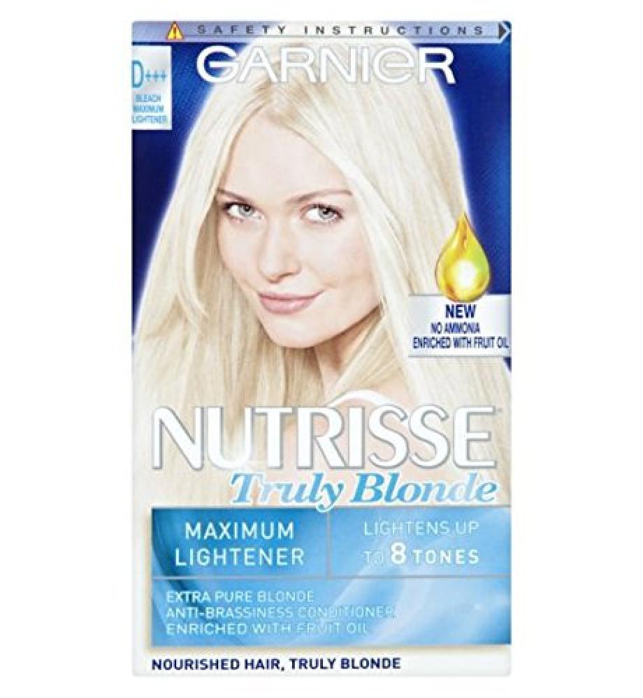 Garnier Nutrisse Truly Blondes D Bleach Lightener Permanent Hair Dye