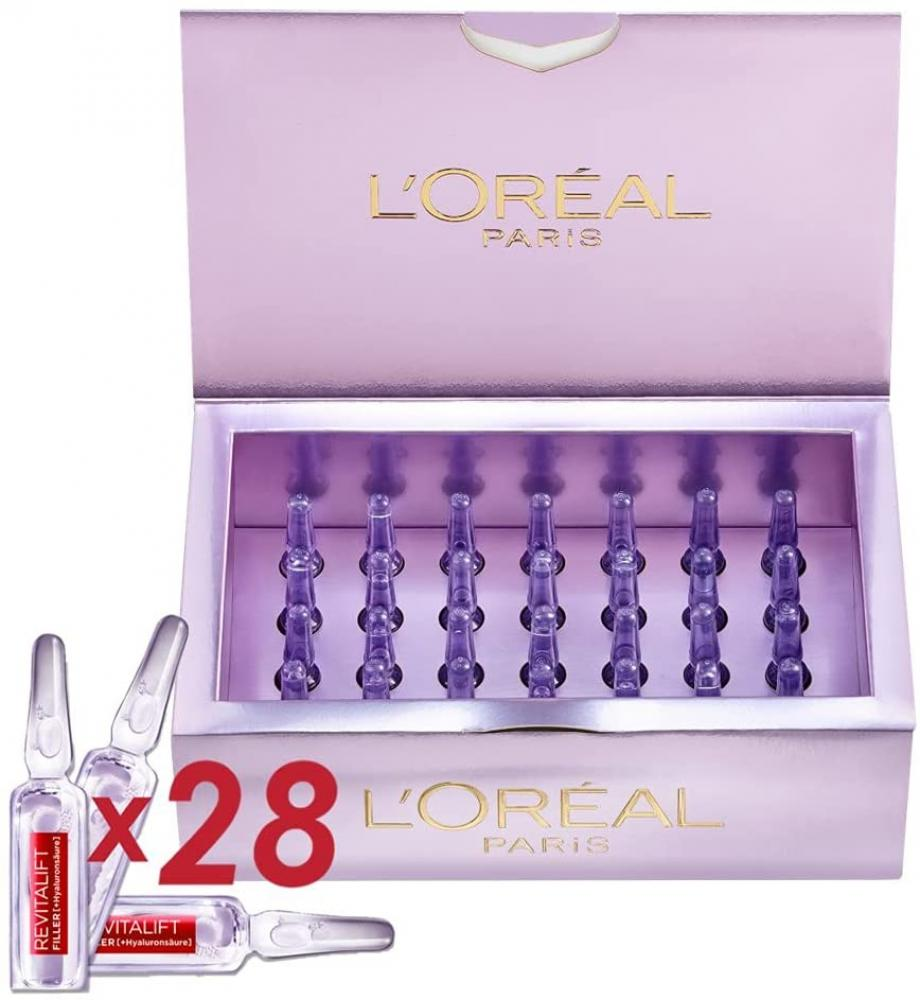 Loreal Paris Revitalift Filler Hyaluronic Acid Ampoules 28x1.3ml