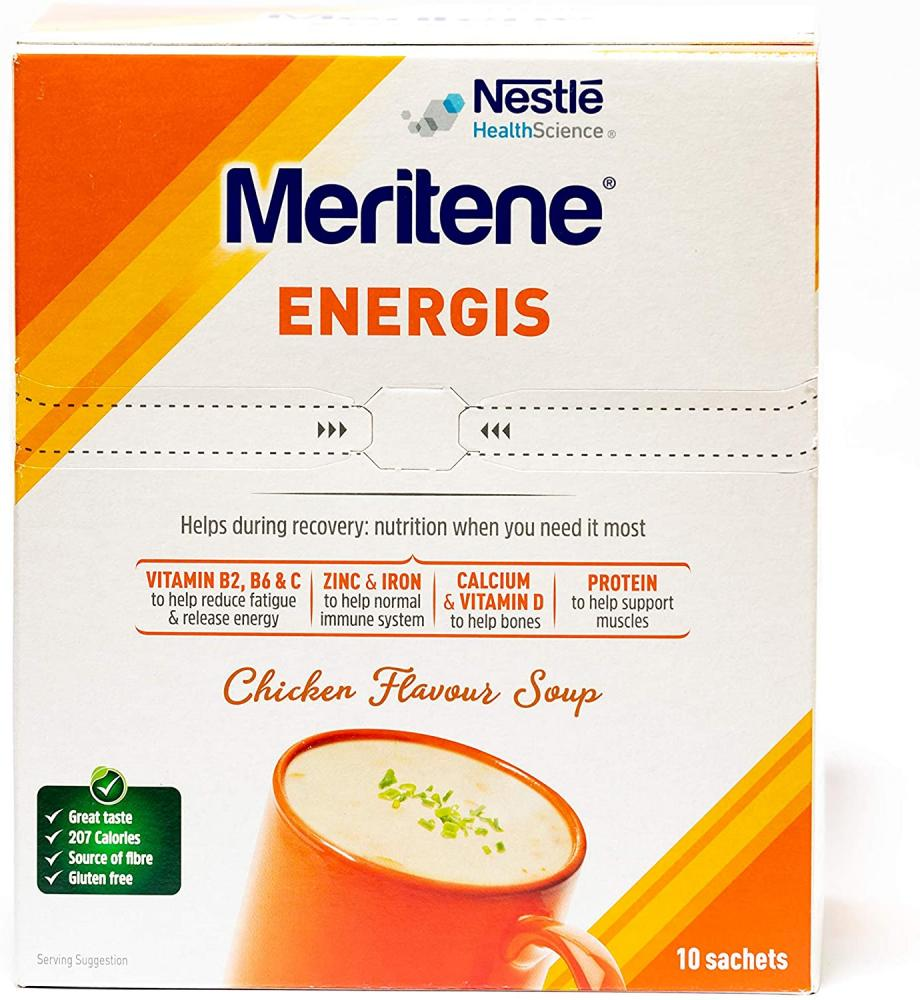 Nestle Health Science Meritene Energis Chicken Soup 10 sachets Damaged Box