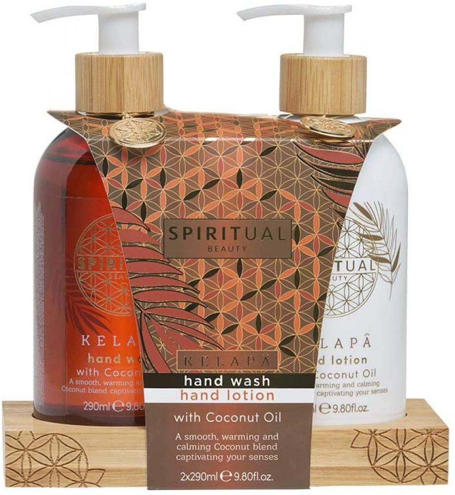 Spiritual Beauty Hand Wash and Hand Lotion Duo Gift Set with Coconut Oil 2x290ml Damaged