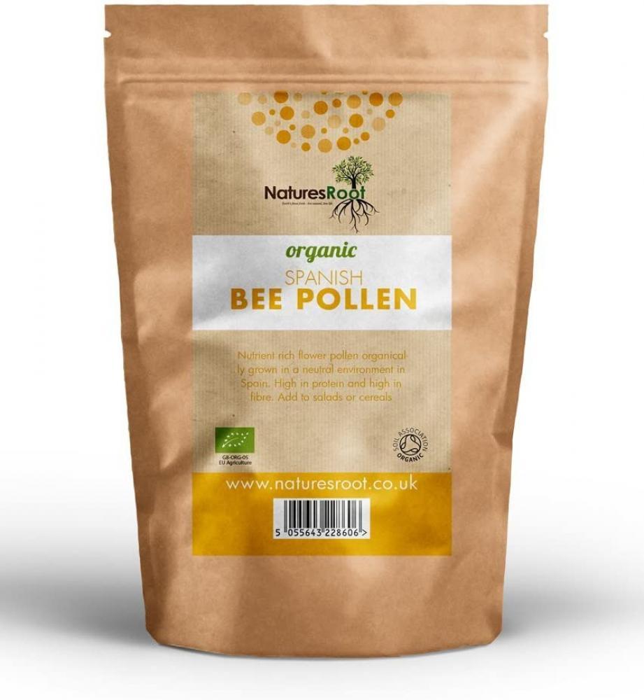 Natures Root Organic Spanish Bee Pollen 125g