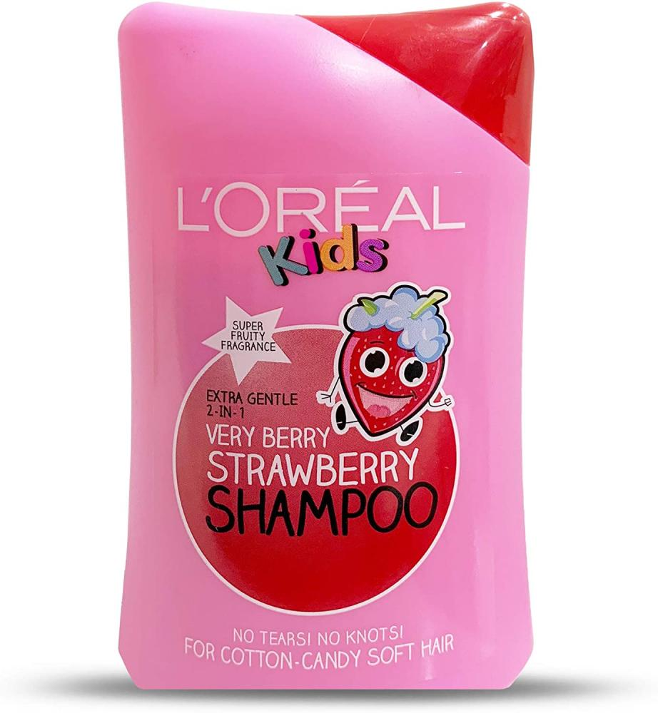 Loreal Kids Extra Gentle 2-in-1 Very Berry Strawberry Shampoo 250 ml