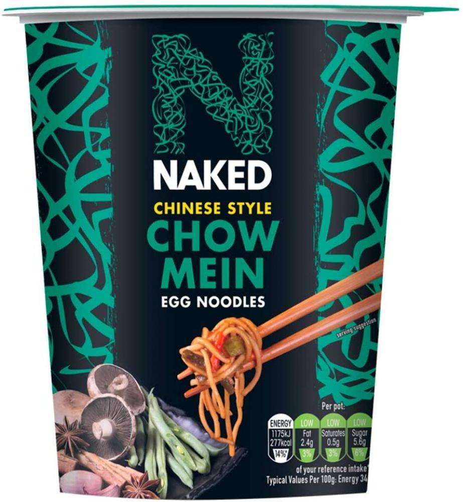 Naked Noodle Chinese Chow Mein Egg Noodles Pot 78g