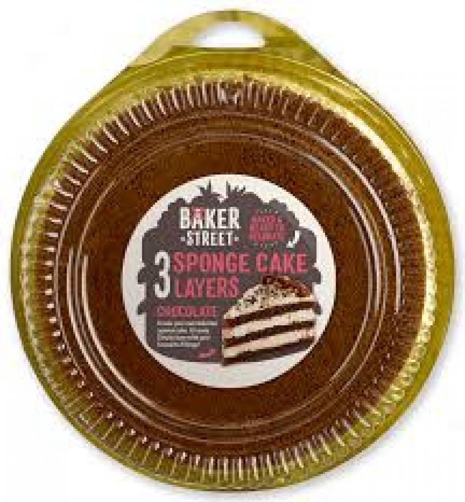 Baker Street 3 Sponge Cake Layers Chocolate 400g