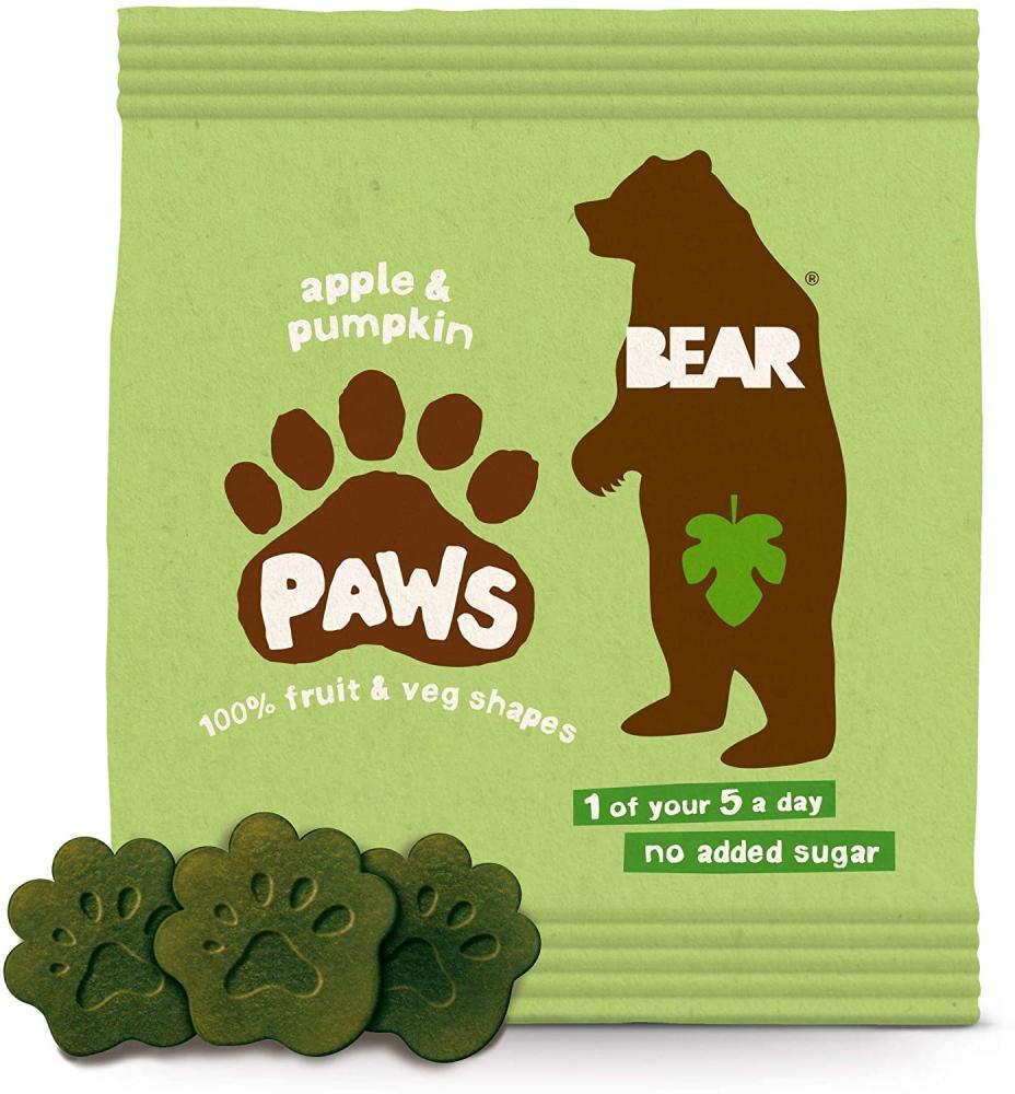 Bear Apple and Pumpkin Pure Fruit and Veg Paws 20g