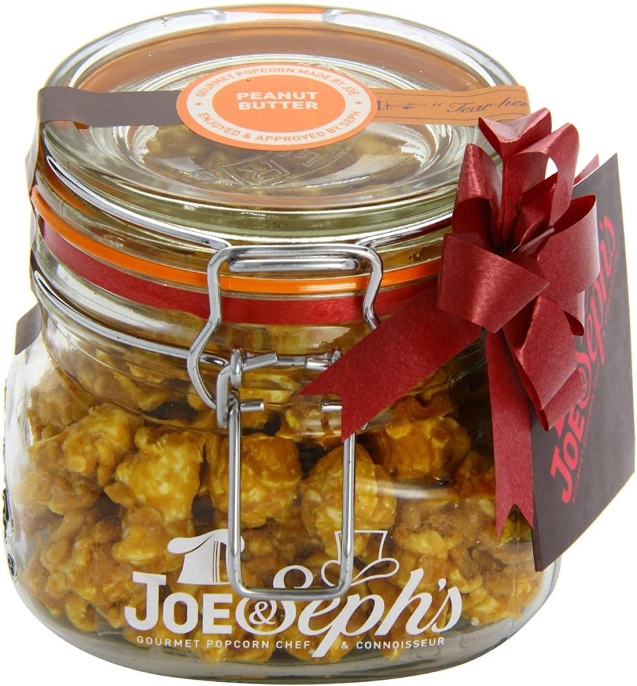 Joe and Sephs Popcorn Kilner Jar of Peanut Butter Popcorn 80g