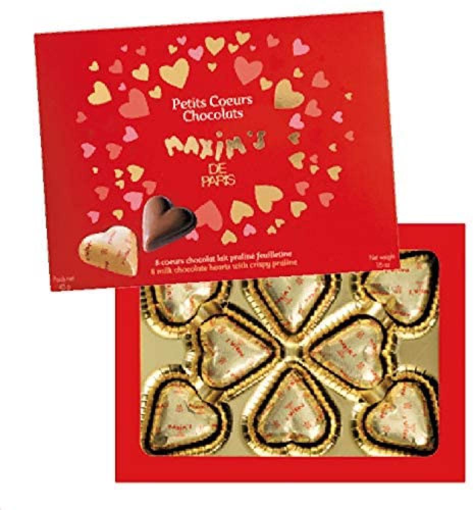 Maxims de Paris Milk Chocolate Hearts 45g