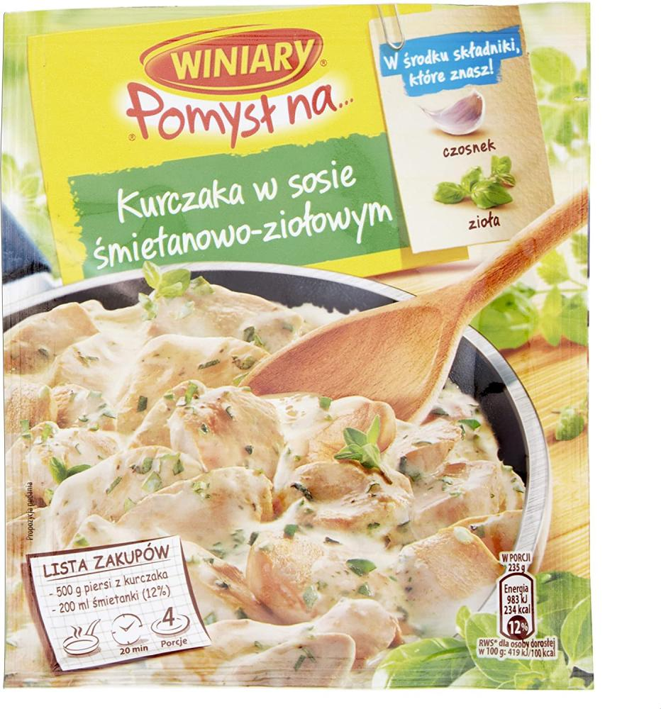 Winiary Seasoning mix for Chicken with Cream and Herbs 30g
