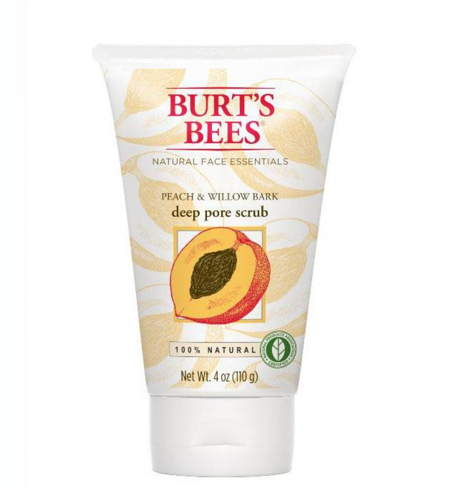Burts Bees Peach and Willowbark Deep Pore Scrub 110g