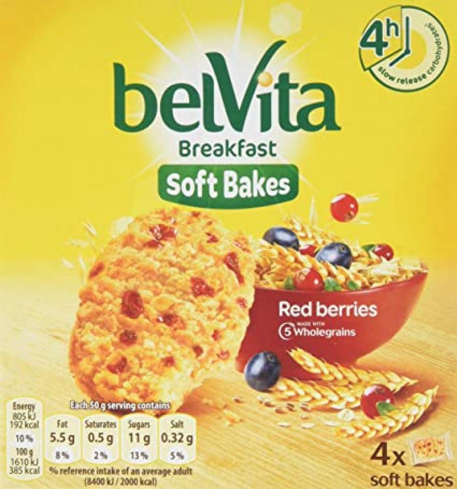 Belvita Red Fruits Soft Bakes Breakfast Biscuits 200g