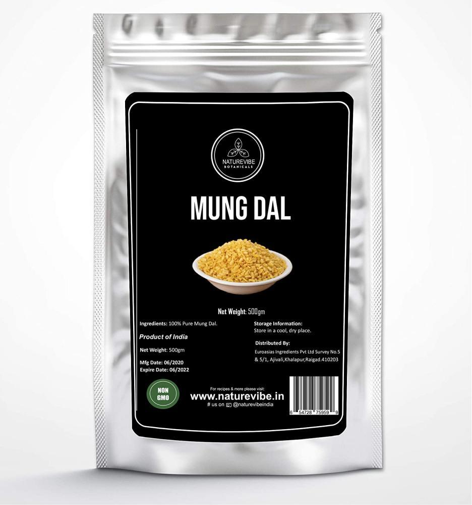 Naturevibe Botanicals Mung Dal Split Mung Beans Without Skin 500 g